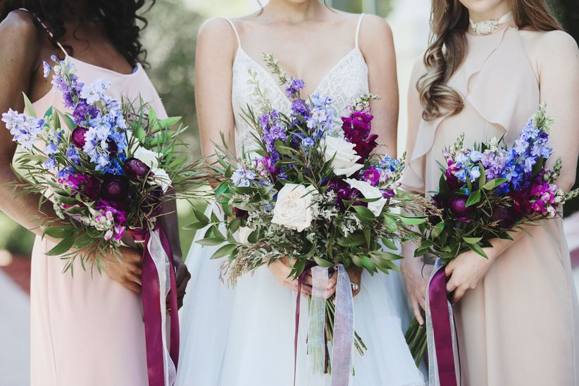hamilton bridesmaid bouquets