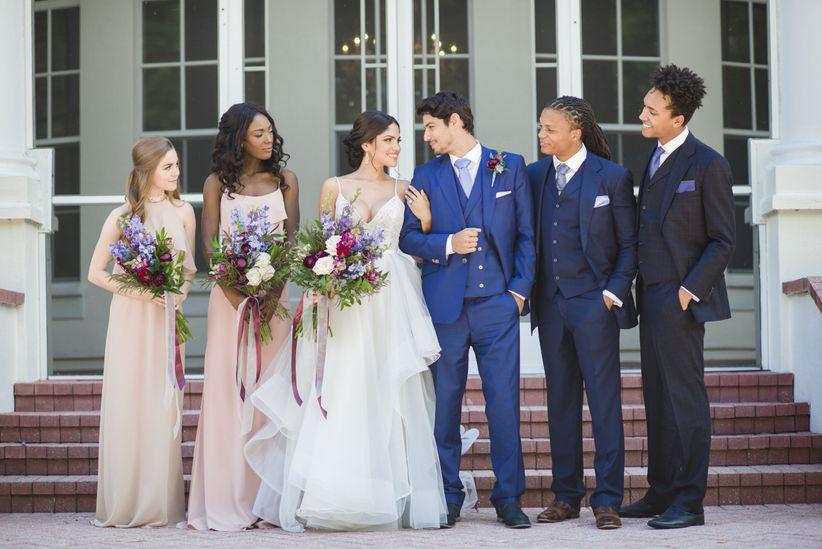 hamilton themed wedding party