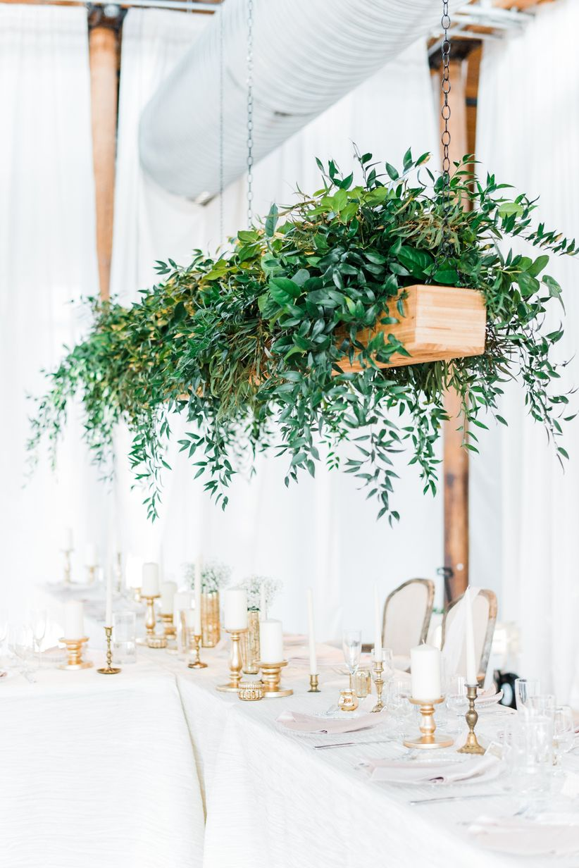 greenery hanging centerpiece