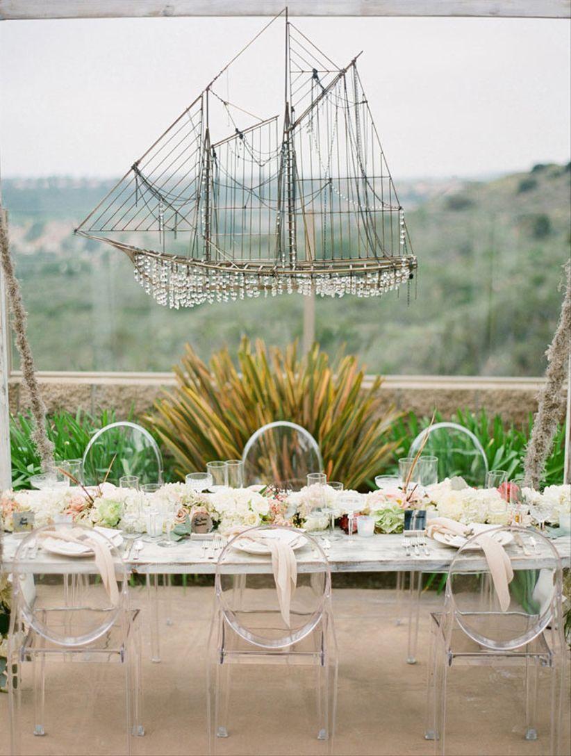 ship wedding centerpiece