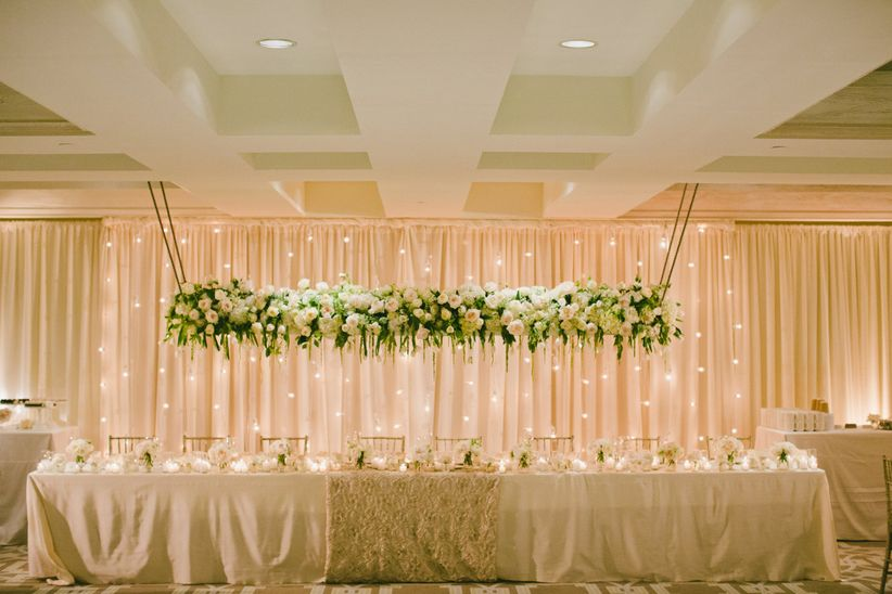 20 hanging centerpieces to spice up your ceiling weddingwire classic hanging centerpiece junglespirit Gallery