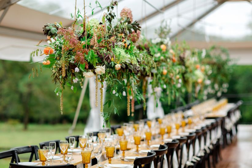 fall hanging centerpieces
