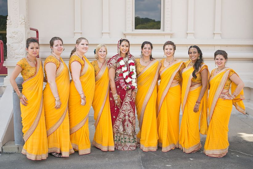 c492a18b00 Indian Bridesmaid Dresses to Inspire Your Bride Tribe - WeddingWire