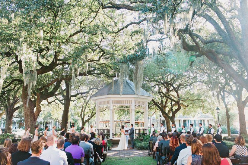 Outdoor wedding in downtown Savannah