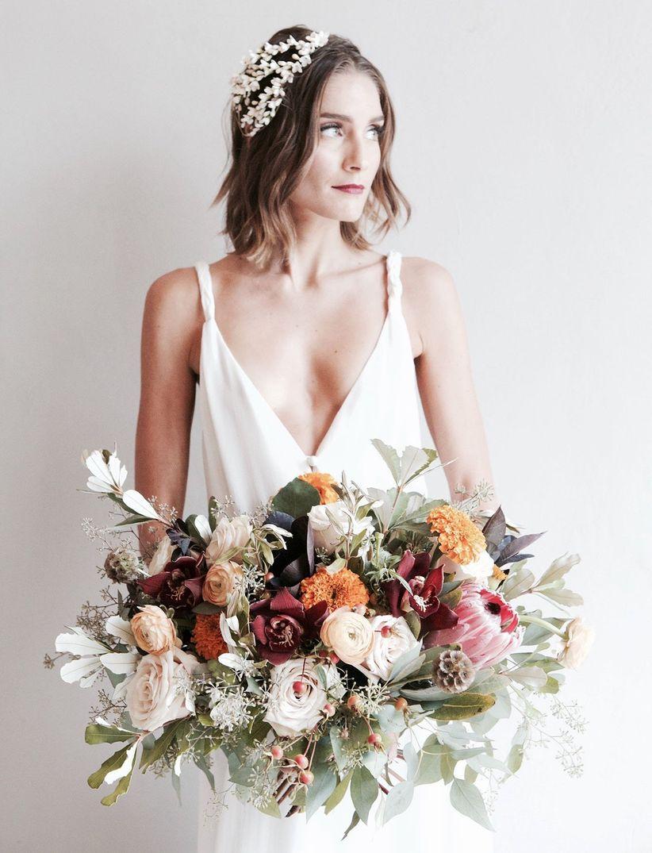 bride with crystal headband
