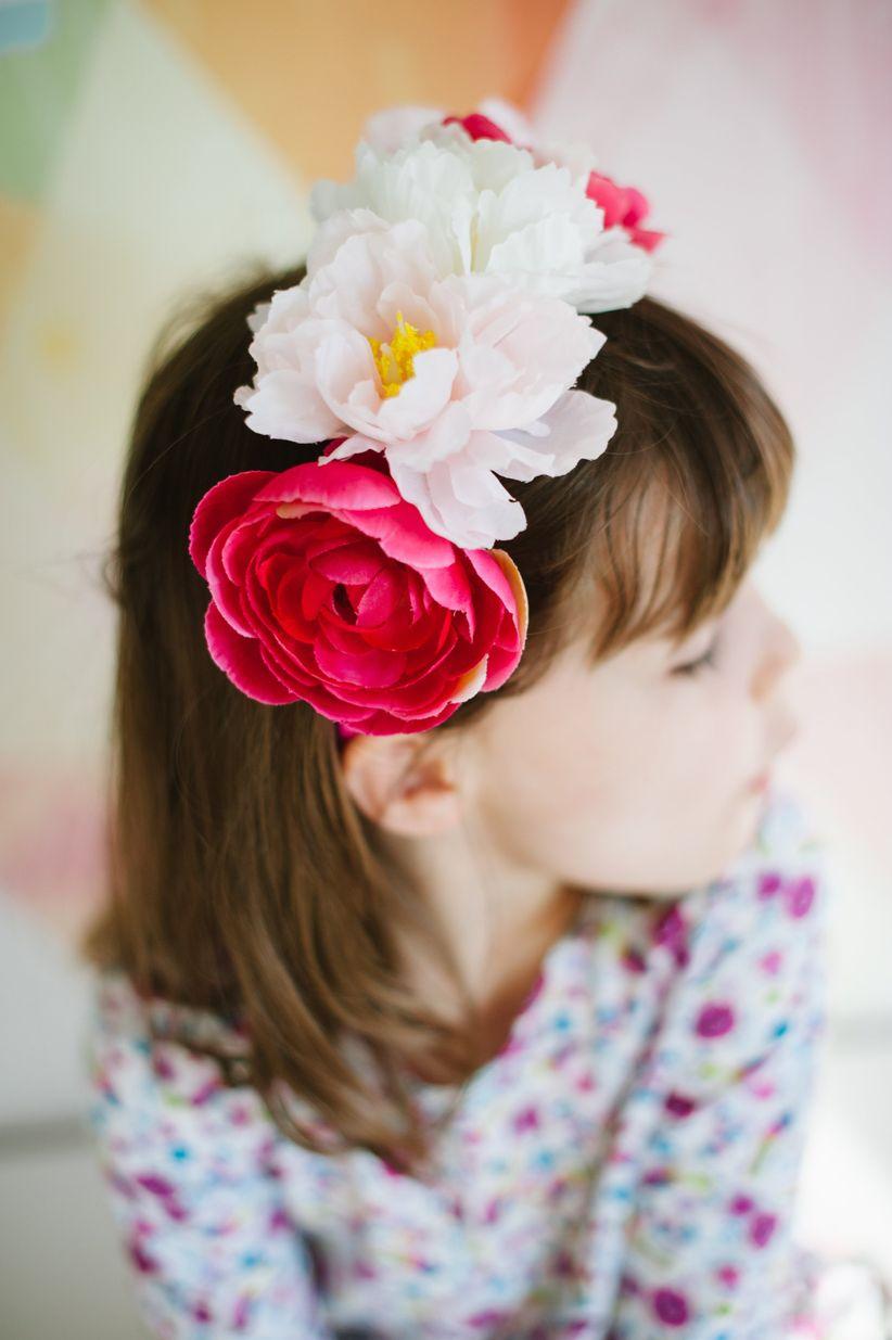 Silk Floral Crown Weddingwire