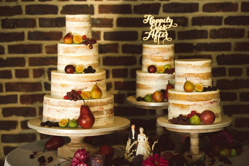 dessert display with 2018 wedding cake trends