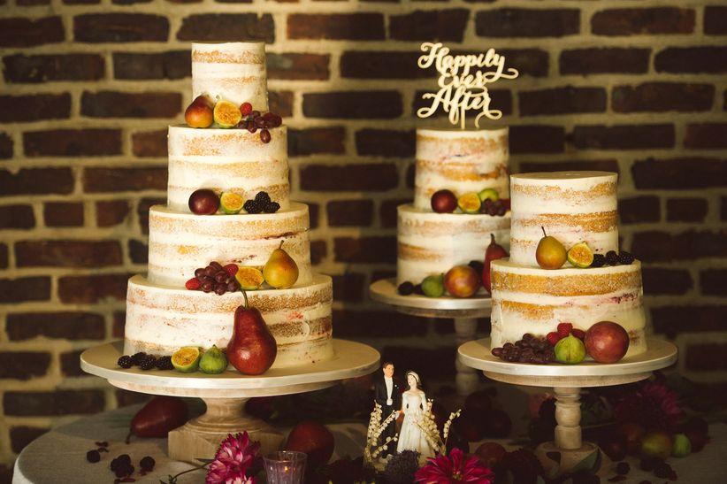 dessert display with 2018 wedding cake trends