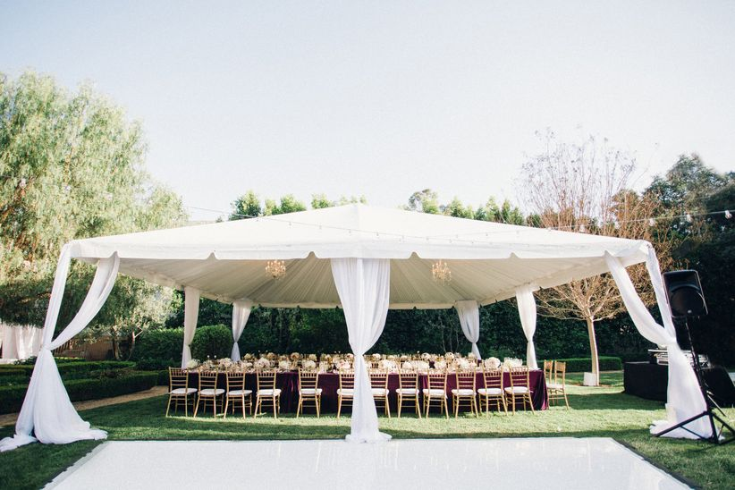 tented wedding reception & 10 Hidden Costs That Can Wreck Your Wedding Budget - WeddingWire