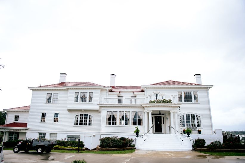 exterior of white mansion