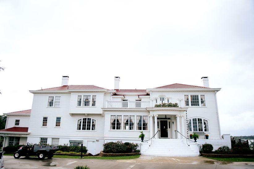 exterior of white mansion