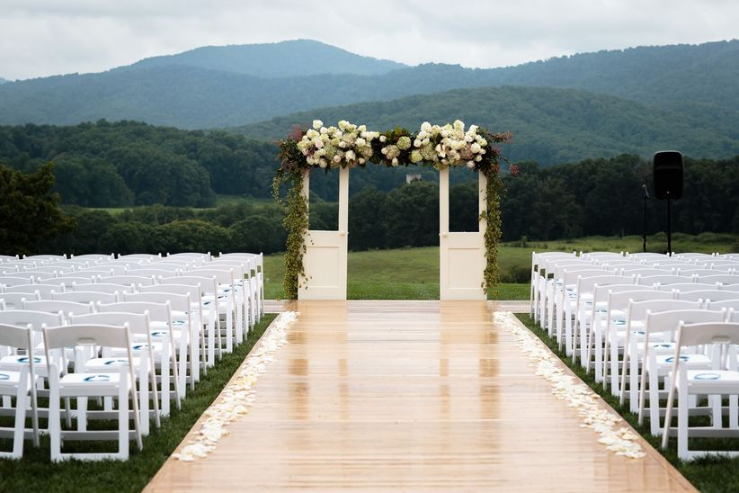 wedding ceremony doors backdrop
