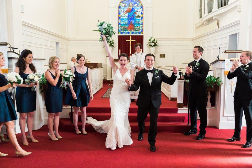 wedding recessional in a church
