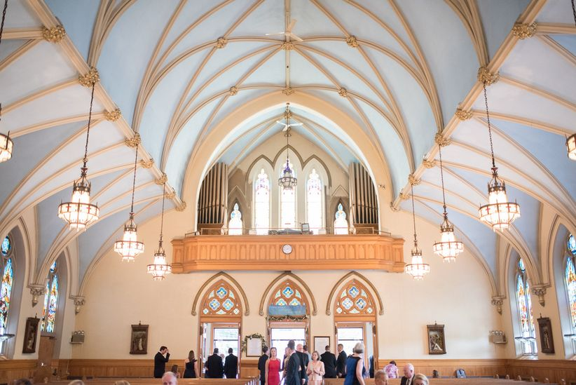 church wedding venue with vaulted ceilings