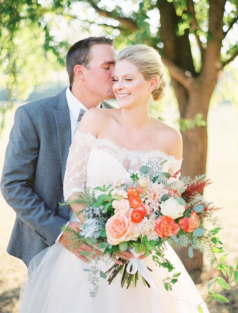 bride and groom southern charm