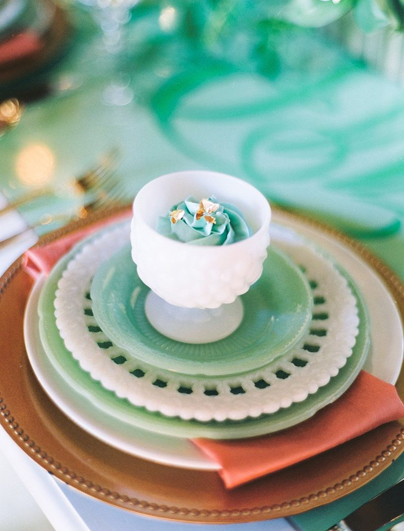 vintage china at place setting