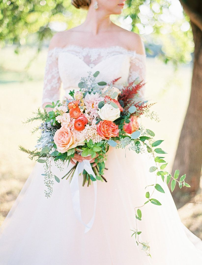 oversized bridal bouquet with greenery