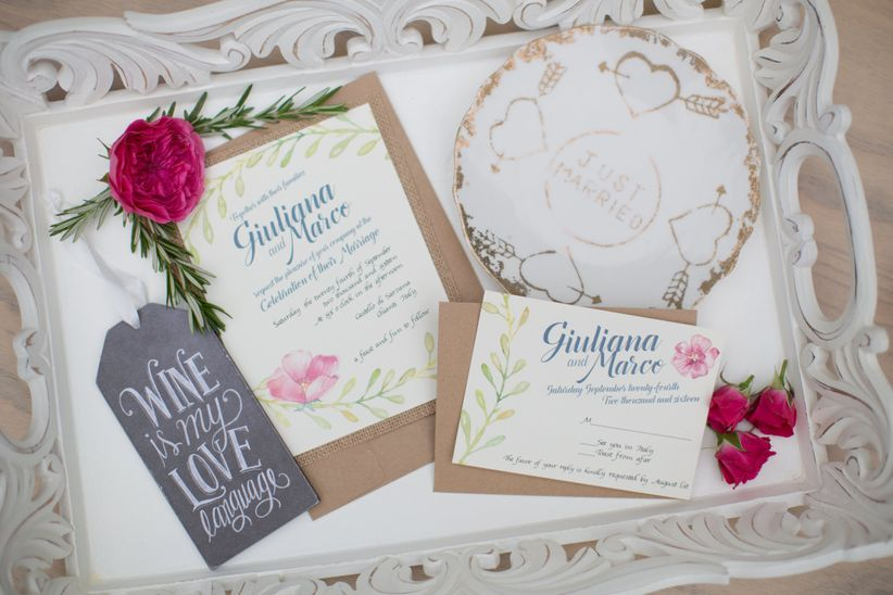 romantic floral invitation suite <li>stephanie fay photography