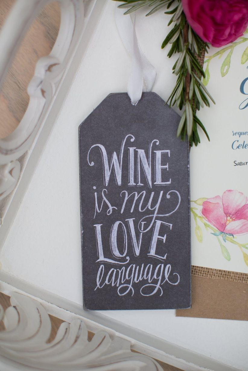wine-themed invitation suite