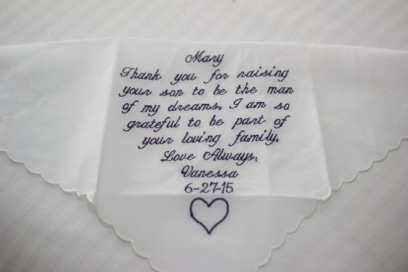 mother in law handkerchief gift