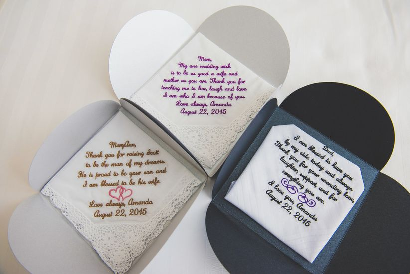 The 8 best gifts to get your soon to be in laws weddingwire parents gifts handkerchiefs junglespirit Choice Image
