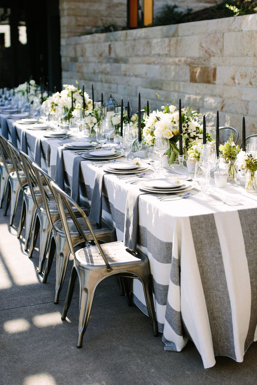 preppy wedding tablescape