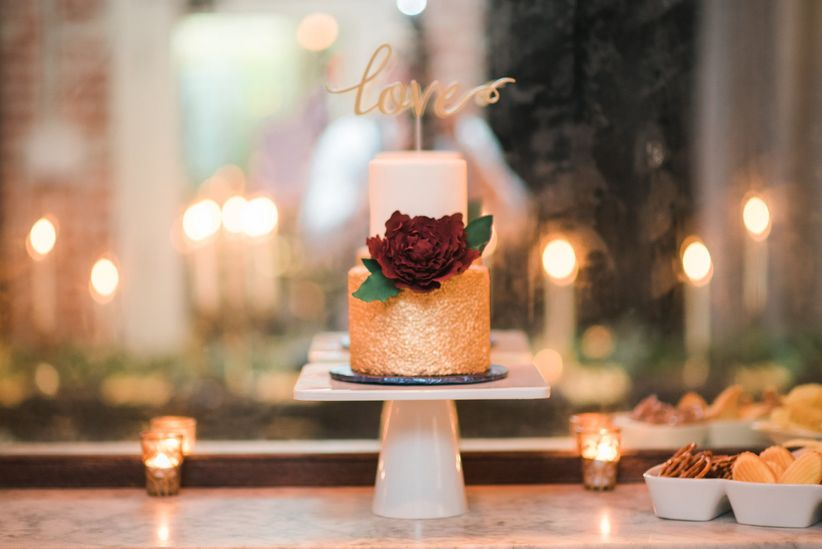 two tiered wedding cake laser cut topper