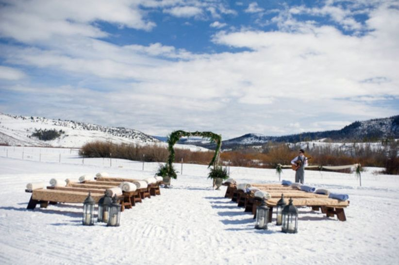 snowy ceremony