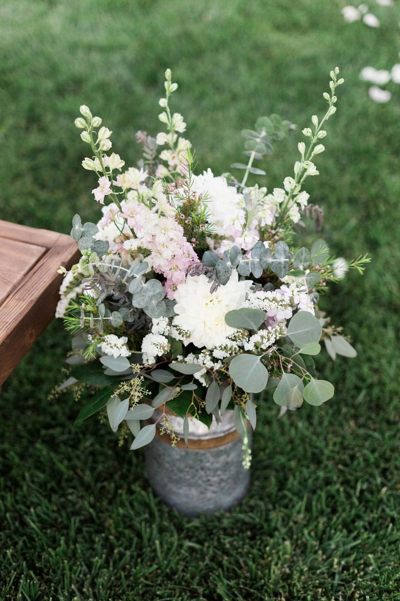 garden wedding aisle marker
