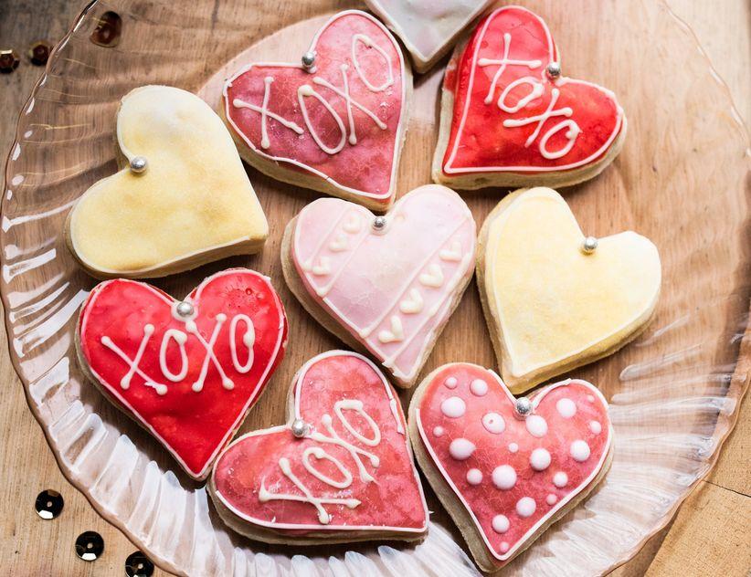 heart shaped love cookies