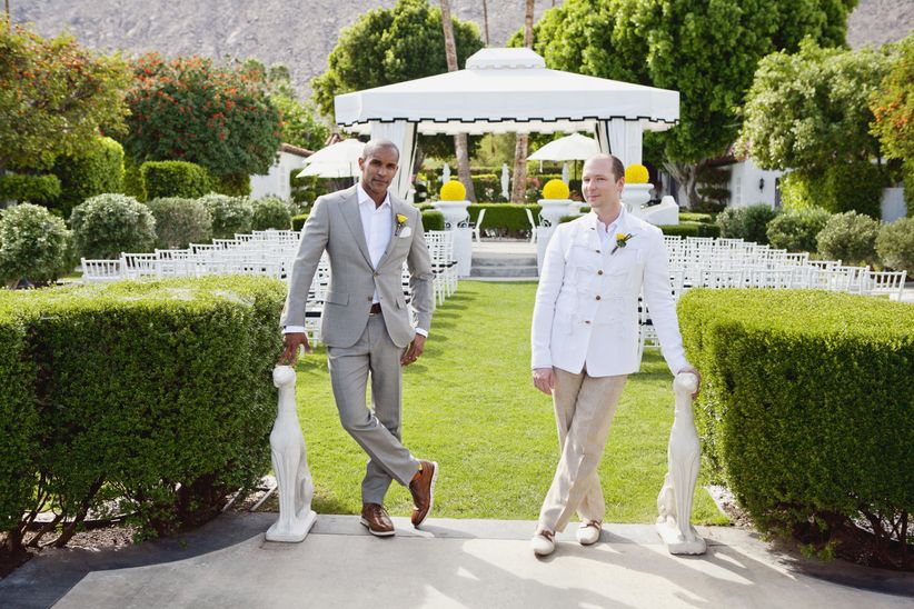 same-sex Palm Springs wedding