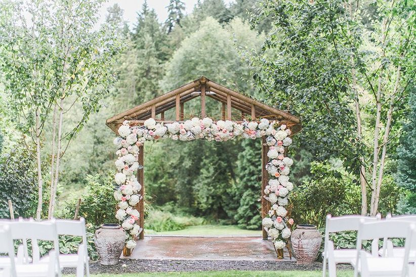 outdoor wedding ceremony backdrop