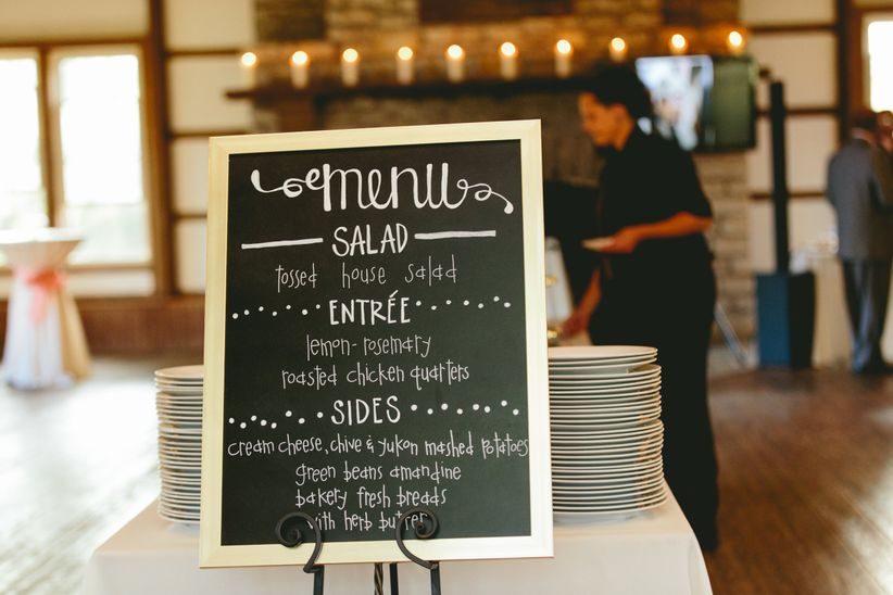 Chalkboard Handwritten Menu Sign