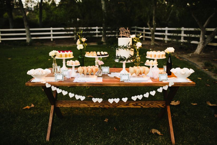 Cake table outdoors