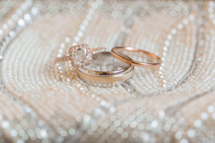 rose gold rings arte de vie