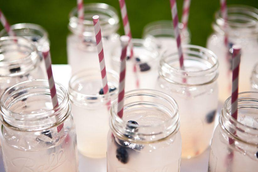 wedding drinks pink cocktails