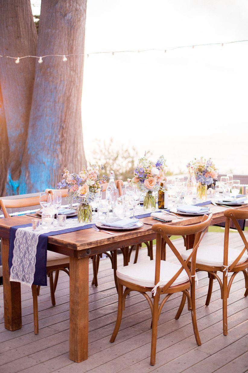rustic reception tablescape honey photographs
