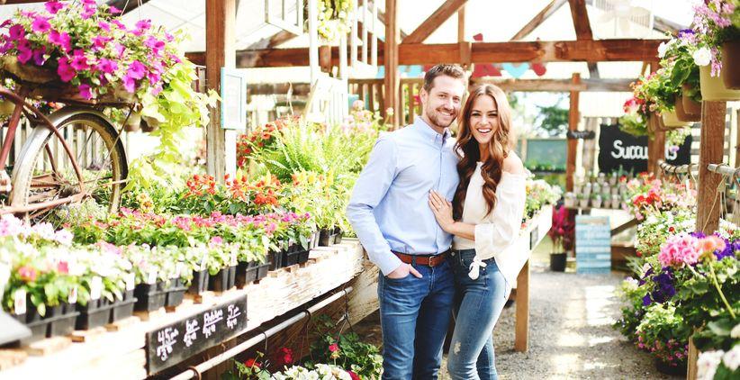 lauren morgan lo profile couple in flower shop