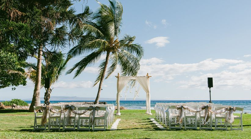Oceanfront ceremony site