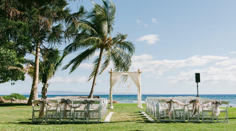 Oceanfront ceremony site