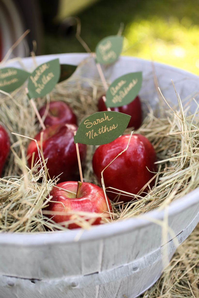 The best apple wedding decorations for your autumn big day weddingwire add a pop of color to your big day with the help of some apple red high heel boots you can enhance your detail shots with some apple wedding decorations junglespirit Image collections