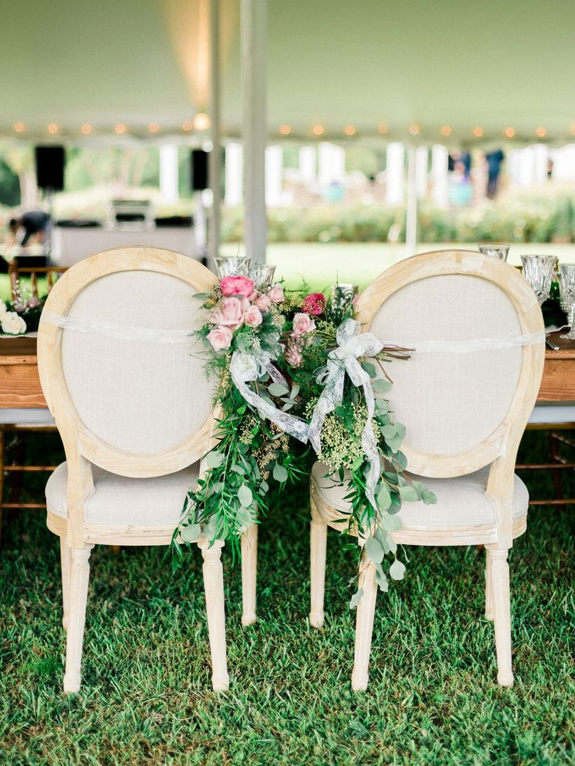 King Louis XVI chairs garden wedding