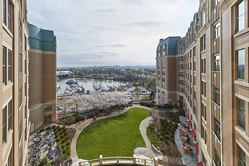 View of the Potomac River from the Mandarin Oriental hotel in Washington, DC.