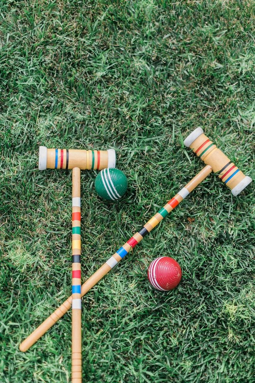 vintage croquet set wedding lawn games