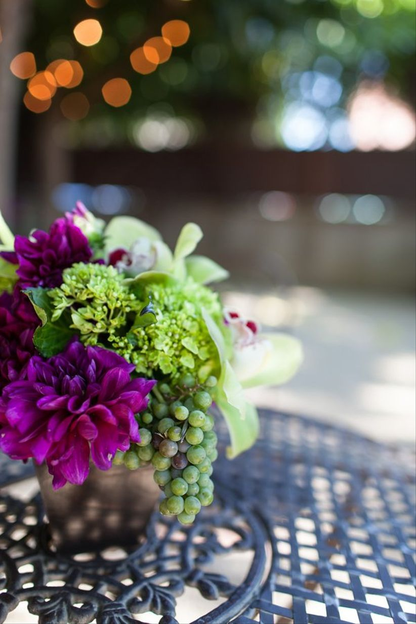 vineyard wedding centerpiece ideas