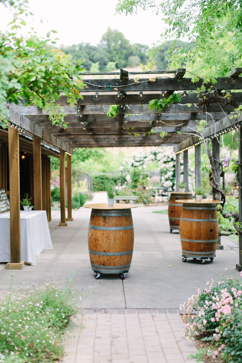 vineyard wedding cocktail hour ideas