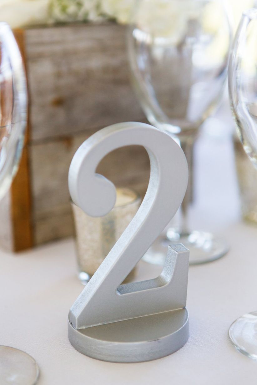 silver table number =