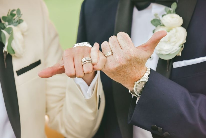 wedding rings for two grooms