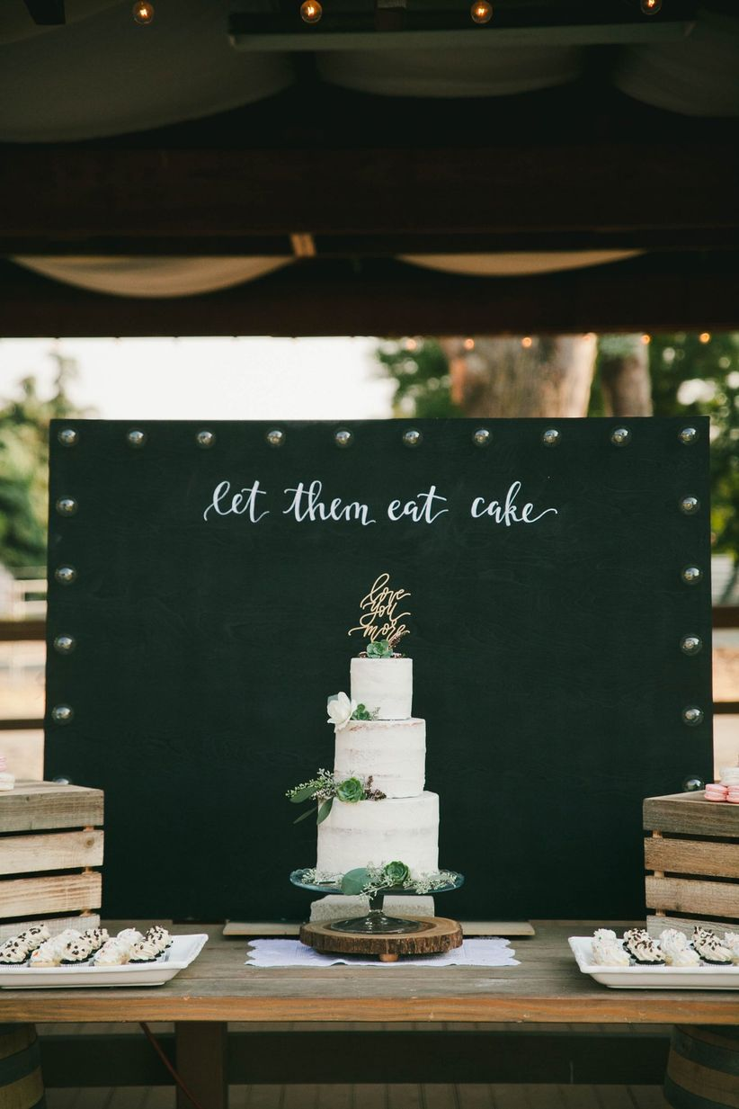 modern wedding cake display
