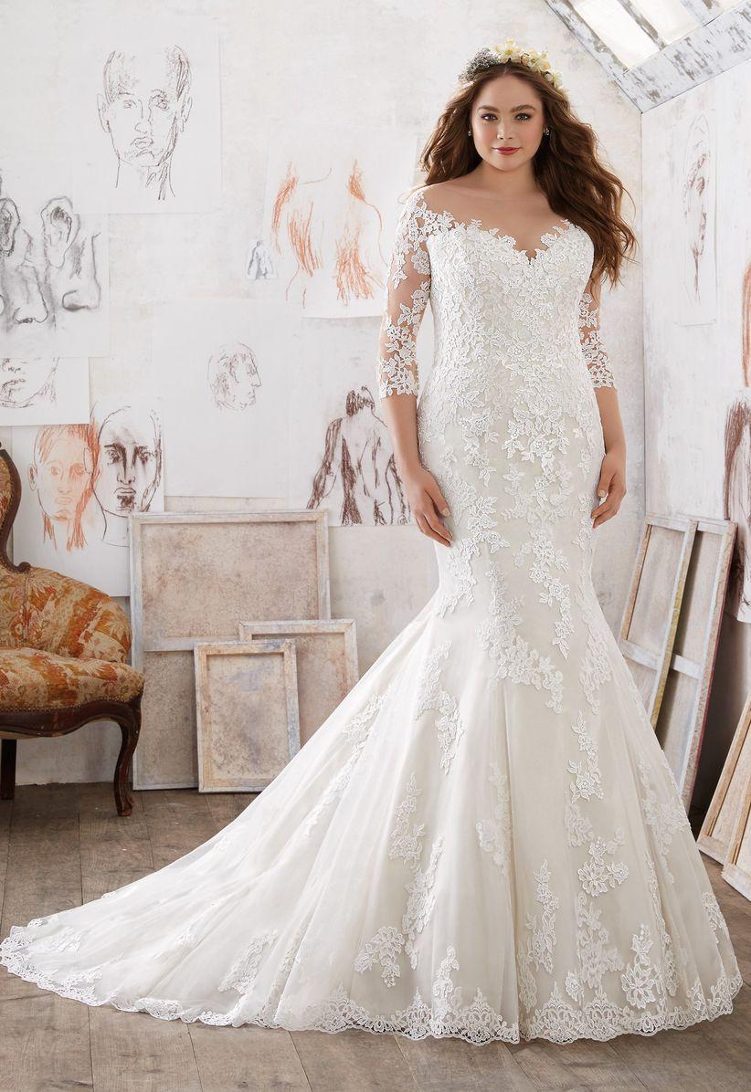 sleeves wedding dress morilee